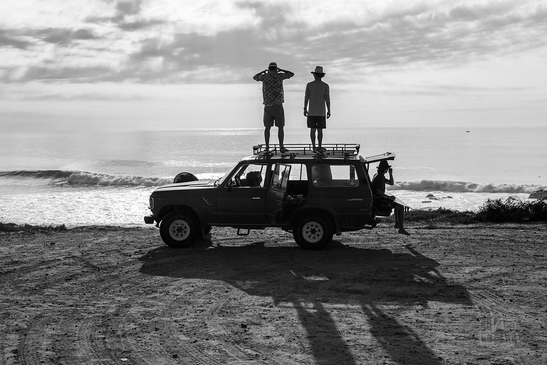 John Rapp, Walker Ferguson and Trevor Gordon, the tip of Baja, California