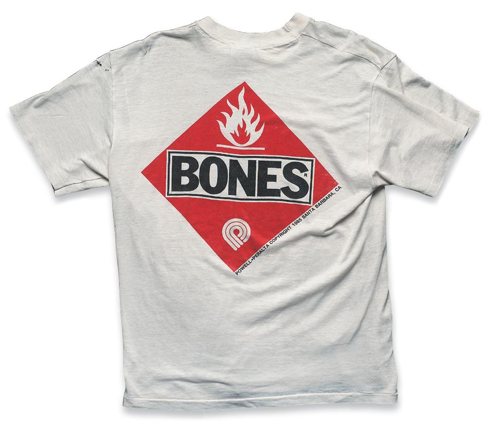 """Bones""a. 1985, b. Powell Peralta, c. Zip Stevenson, (Hollywood Trading co.)"