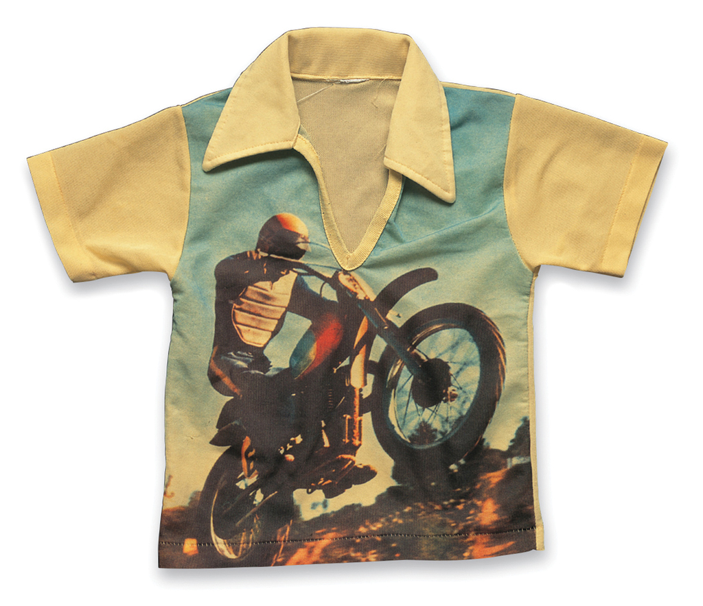 "Picture-Print T-Shirt ""Motocross"" a. 1970s, b. Missing Label, c. Makoto Nishii (Be-Pop)"