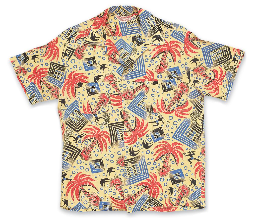 """Palm Trees"", Rayon Shirt a. Late 1950s, b. Catalina Sportswear, (Los Angeles, CA), c. David Bailey (Bailey's Antiques &"