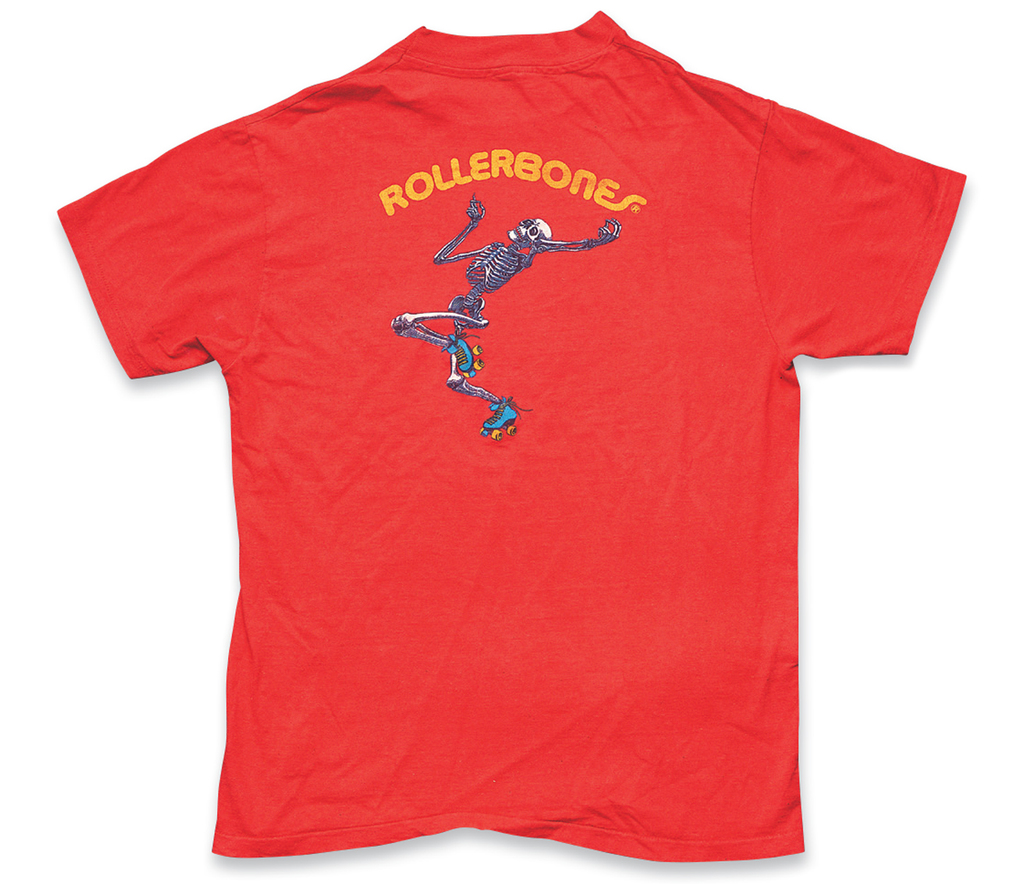 """""""Powell: Rollerbones"""" a. Mid or Late 1980s, b. Hanes Beefy-T, c. Kathleen Schaaf (Meow)"""