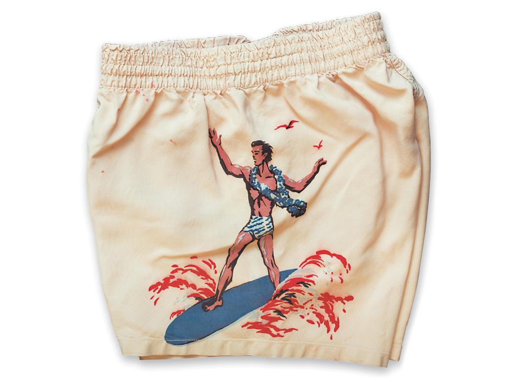 """Surfer"" Side a. 1950s, b. McGregor, c. Werner Werwie (Retro City Fashions, Inc.)"