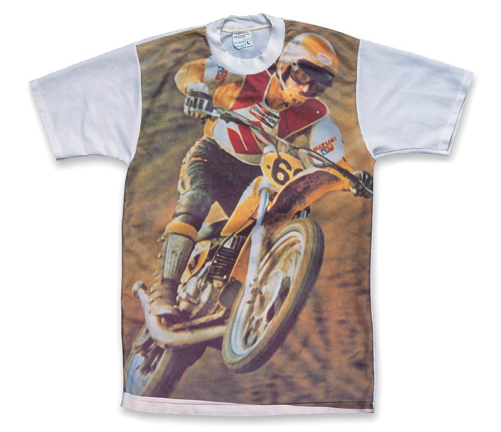 """Suzuki"", Picture-Print T-Shirt a. 1970s, b. Montgomery Wardc. Junya Demura (Hayabusa Cat Clother)"