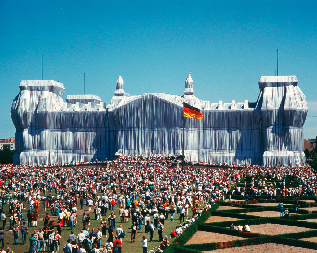 Wrapped Reichstag, Berlin, 1995.