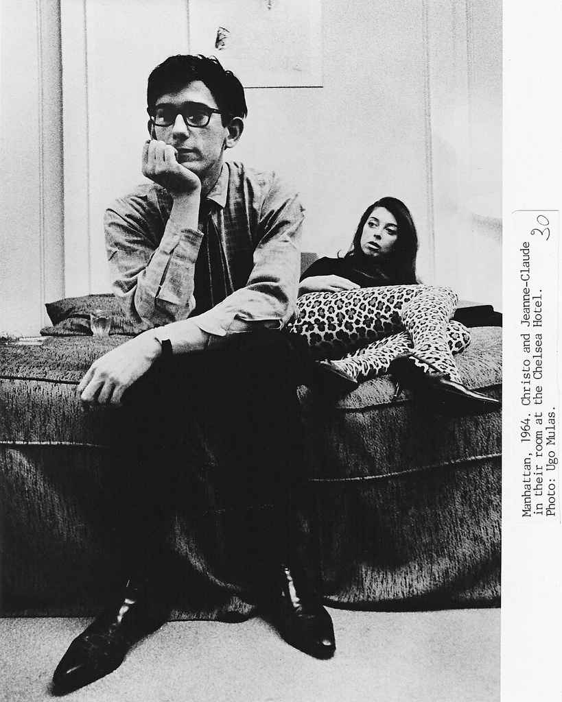 Christo and Jeanne-Claude at the Chelsea Hotel, 1964.