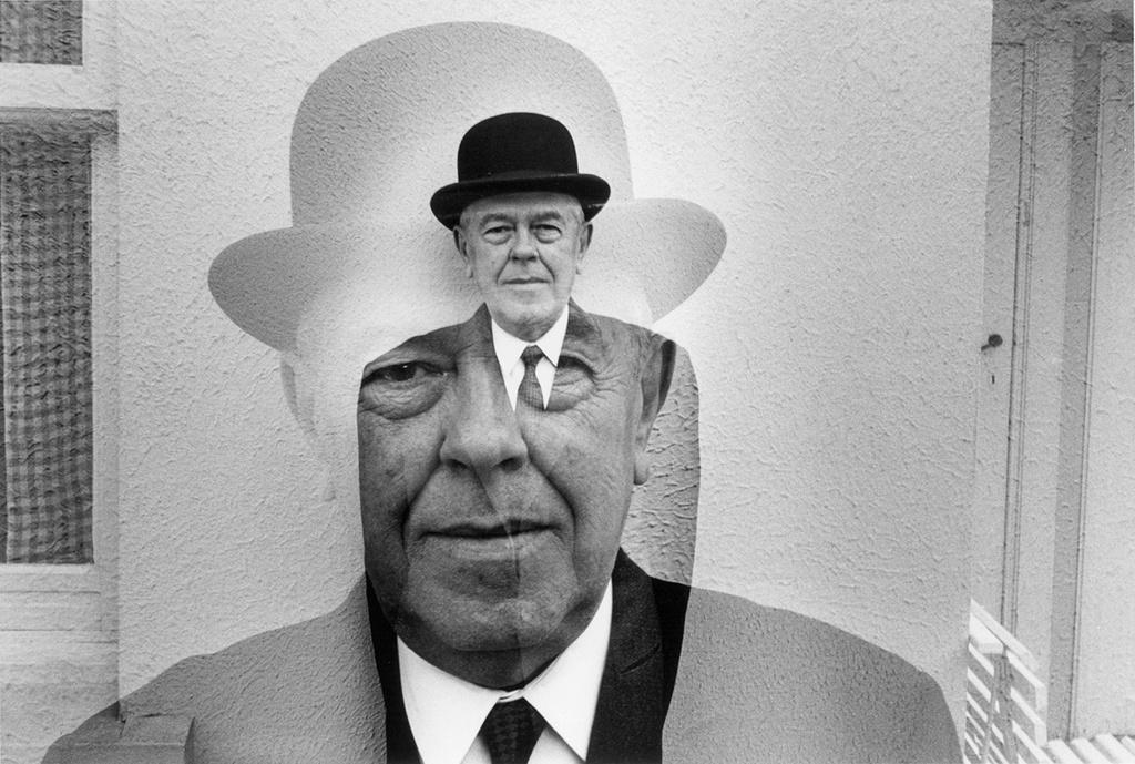 René Magritte double exposure