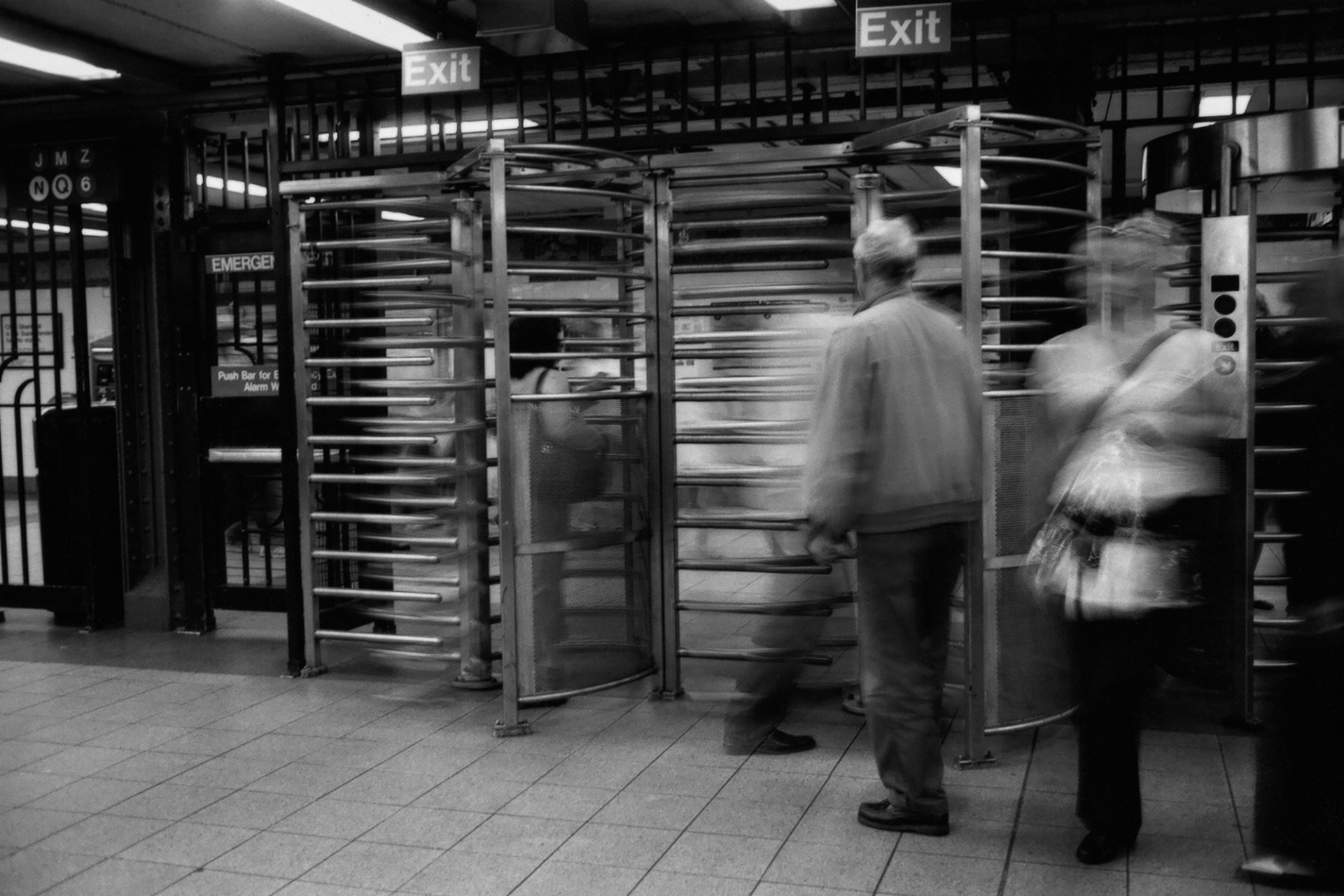 Subway entrance, NYC.