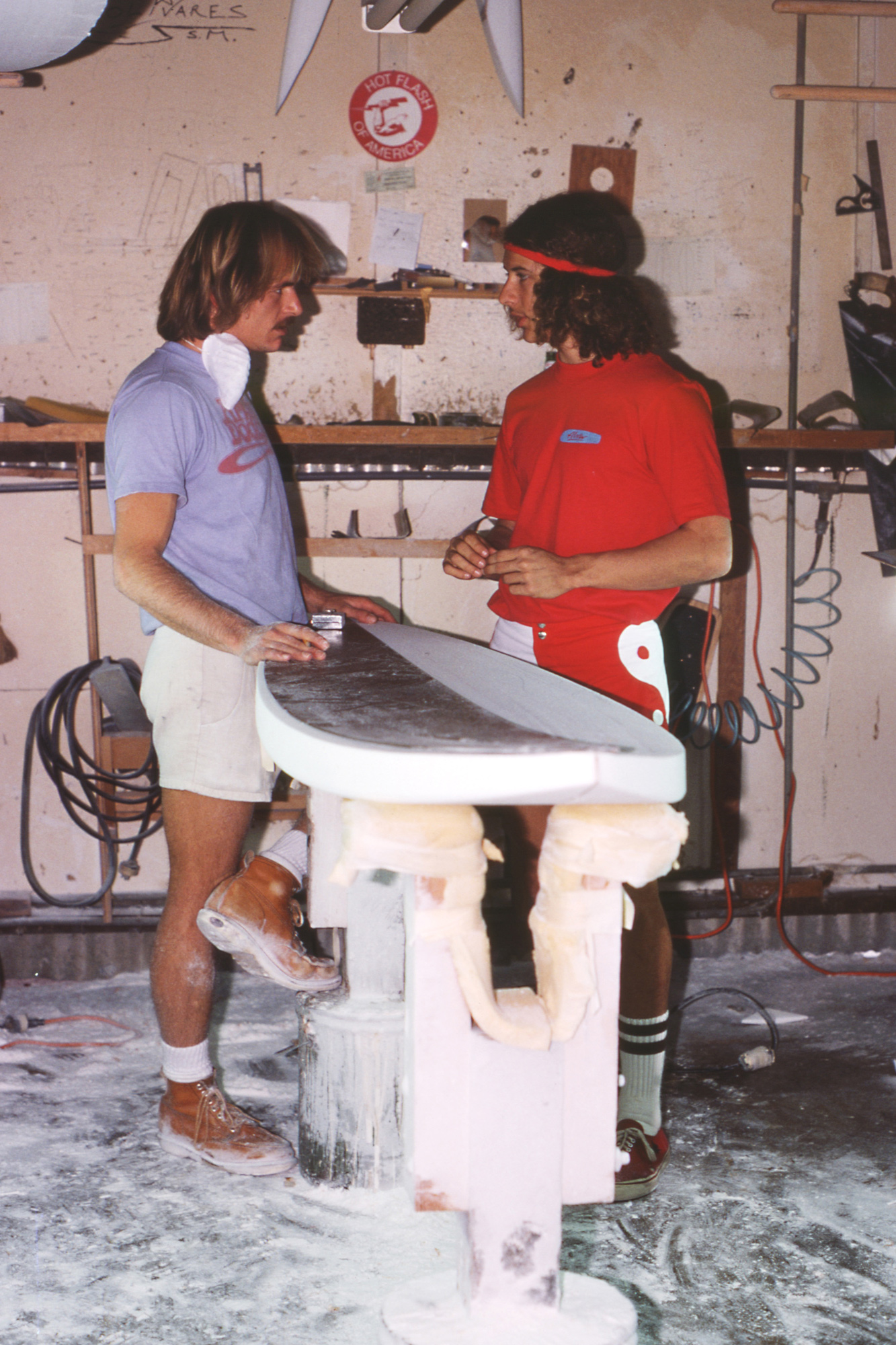 Mike Olivares consults with Tony Alva